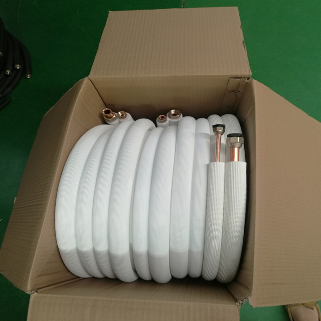 Air conditioner parts insulated aluminum alloy piping kit